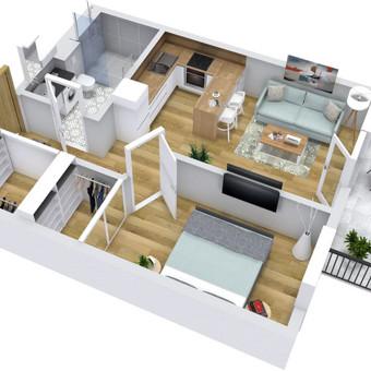 3D planai, 2D planai, vizualizacijos / Elina / Darbų pavyzdys ID 536595