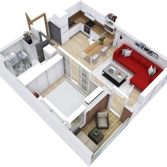 3D planai, 2D planai, vizualizacijos / Elina / Darbų pavyzdys ID 536603
