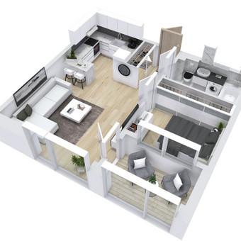 3D planai, 2D planai, vizualizacijos / Elina / Darbų pavyzdys ID 536611