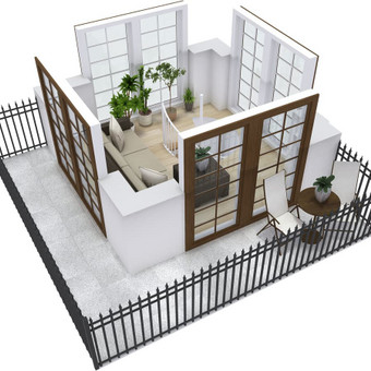 3D planai, 2D planai, vizualizacijos / Elina / Darbų pavyzdys ID 536615