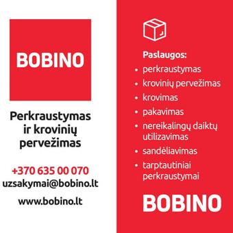Perkraustymo paslaugos, krovinių pervežimas. / Bobino / Darbų pavyzdys ID 537273