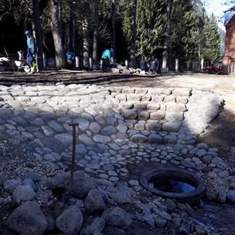 Akmens mūro darbai, Šlaitų ir pakrančių tvirtinimas.Atramine / Saulius / Darbų pavyzdys ID 538057