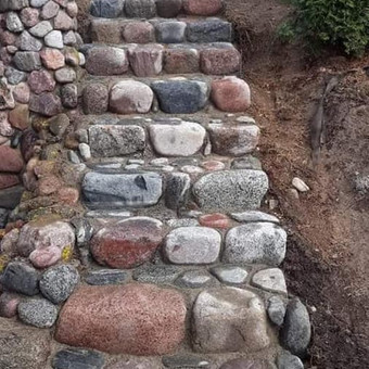Akmens mūro darbai, Šlaitų ir pakrančių tvirtinimas,Gabion / Saulius / Darbų pavyzdys ID 538083