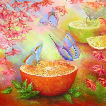 Tropiniai drugeliai  60x55