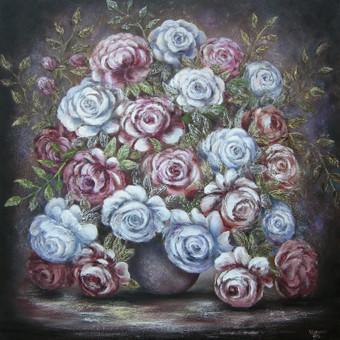 Rudeninės rožės 80x80