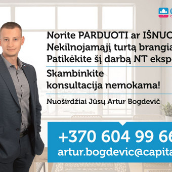 LNTAA sertifikuotas Nekilnojamojo turto brokeris / Artur Bogdevič / Darbų pavyzdys ID 538797