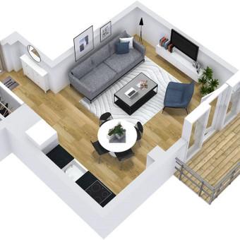 3D planai, 2D planai, vizualizacijos / Elina / Darbų pavyzdys ID 538867
