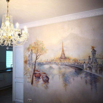 Meninis sienų dekoravimas, dekoratyvinis tinkas / Laura Sakalauskienė / Darbų pavyzdys ID 539681