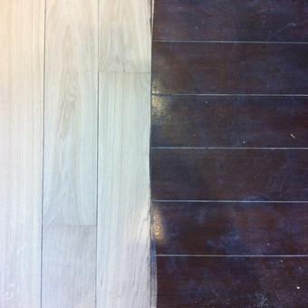 Darbai su medinėmis grindimis: klojimas, šlifavimas... / Rolandas / Darbų pavyzdys ID 539881
