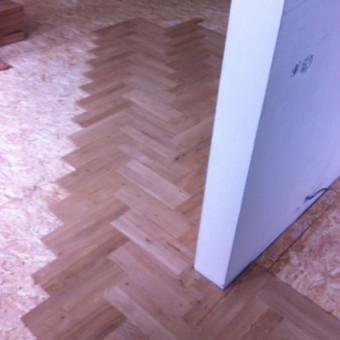 Darbai su medinėmis grindimis: klojimas, šlifavimas... / Rolandas / Darbų pavyzdys ID 539885