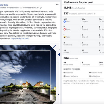 Socialinių tinklų marketingo specialistas / Rokas Pocius / Darbų pavyzdys ID 540757