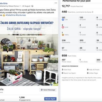 Socialinių tinklų marketingo specialistas / Rokas Pocius / Darbų pavyzdys ID 540765