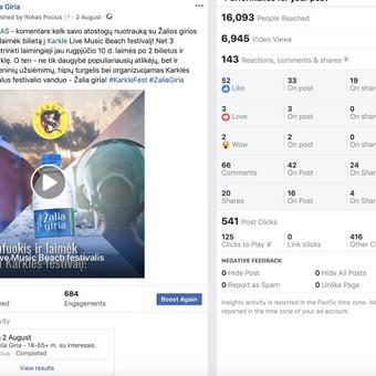 Socialinių tinklų marketingo specialistas / Rokas Pocius / Darbų pavyzdys ID 540767