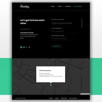 Penktadieniškai gražus web dizainas / Not Monday / Darbų pavyzdys ID 541369