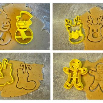 Kalėdinių sausainių/meduolių formos