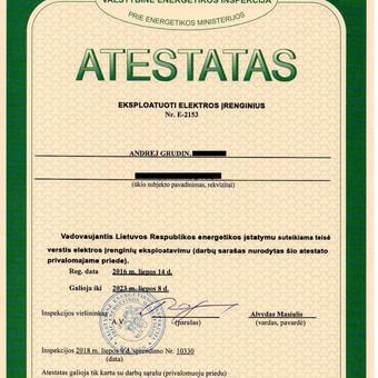 Objektų pridavimas Valstybinei energetikos inspekcijai. / Andrej Grudin / Darbų pavyzdys ID 542967