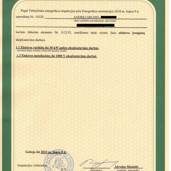 Objektų pridavimas Valstybinei energetikos inspekcijai. / Andrej Grudin / Darbų pavyzdys ID 542971