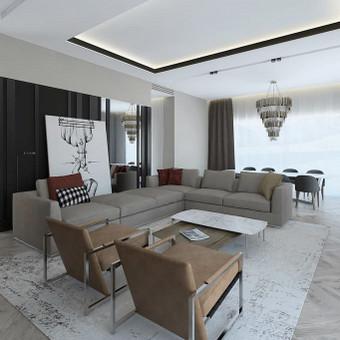 Interjero projektavimas / Flamingo interjero namai / Darbų pavyzdys ID 545481