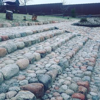 Akmens mūro darbai, Šlaitų ir pakrančių tvirtinimas.Atramine / Saulius / Darbų pavyzdys ID 545609