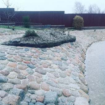 Akmens mūro darbai, Šlaitų ir pakrančių tvirtinimas.Atramine / Saulius / Darbų pavyzdys ID 545621