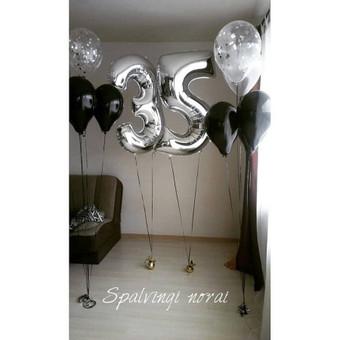 Pigiausi helio balionai Šiauliuose / Stilingi balionai / Darbų pavyzdys ID 546209