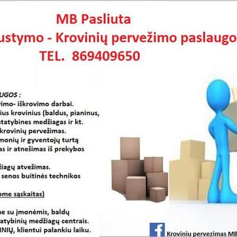 Perkraustymo paslaugos Panevėžyje / MB Pasliuta / Darbų pavyzdys ID 547773