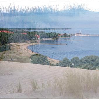 Peizažo fotografija. Nuotrauka atlikta su analogine didelio formato kamera 6x9