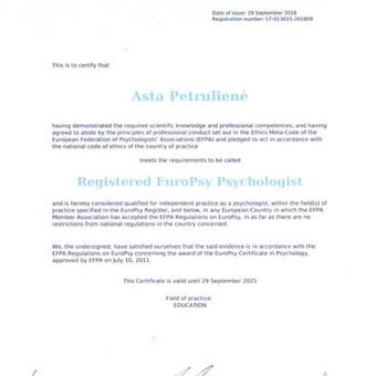 Vaikų ir paauglių psichologė Klaipėdoje / Asta Petrulienė / Darbų pavyzdys ID 550571