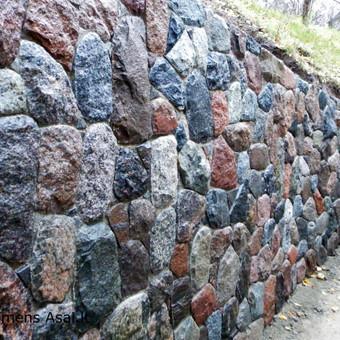 Skaldyto akmens atraminė sienutė