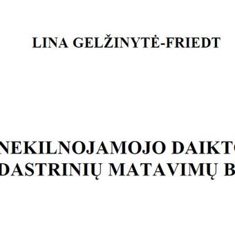 Pastatų kadastriniai matavimai / Lina Gelžinytė - Friedt / Darbų pavyzdys ID 556913