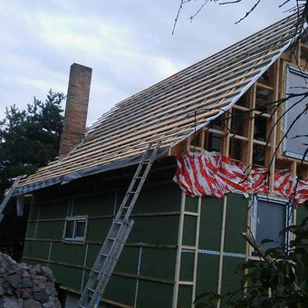 Karkasiniu namu statyba remontas  renovavimas Stogu dengimas / ovidijus / Darbų pavyzdys ID 560011
