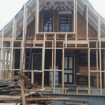 Karkasiniu namu statyba remontas  renovavimas Stogu dengimas / ovidijus / Darbų pavyzdys ID 560013