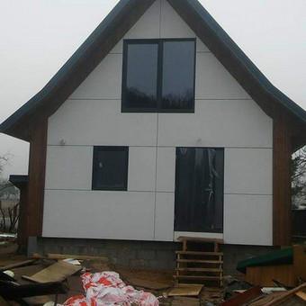 Karkasiniu namu statyba remontas  renovavimas Stogu dengimas / ovidijus / Darbų pavyzdys ID 560017