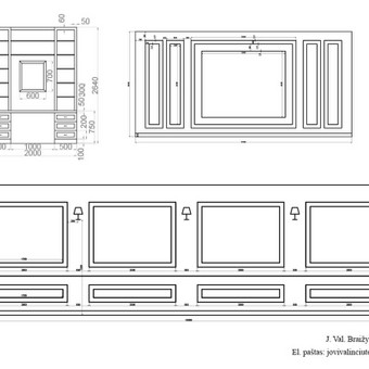 2D plano apšvietimas