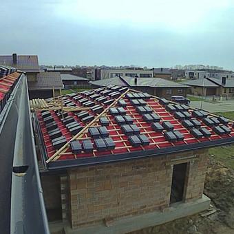 Čerpinių stogų įrengimas, santvarų montavimas