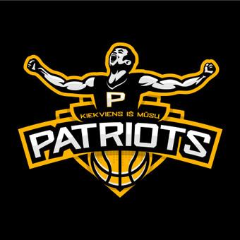 PATRIOTS - krepšinio komandos logotipas.  Logotipų kūrimas   www.glogo.eu - logo creation.