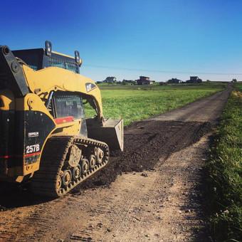 Zvyrkelio padengimas asfalto drozlemis