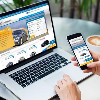 Naudojant specialias skaičiuokles, turinio valdymo sistemą sukurta automobilių nuomos svetainė kuri prikelta pagal naujausias funkcijas ir pritaikyta visiems mob. įrenginiams.