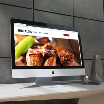 Pritaikyta elektroninė parduotuvė maisto pirkimui internetu iš buffalos.lt. Patogus produktų valdymas, paprastas dizainas, bet puikiai pritraukia klientus.