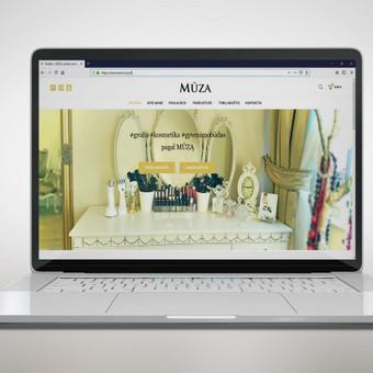"""Panaudotas šabloninis dizainas ir pritaikytas pagal kliento norus. Minimalaus stiliaus interneto svetainei pritaikyta ir elektroninės parduotuvės sistema su įmokų surinkimo sistema """"Paysera""""."""