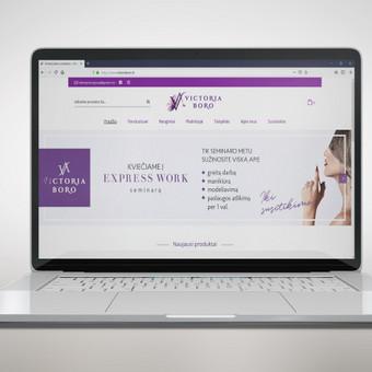 Naujai sukurta prekės ženklo VICTORIA BORO elektroninė parduotuvė su specialiomis funkcijomis ir pagal kliento norus.