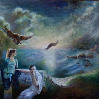 Aliejiniais dazais tapytas paveikslas