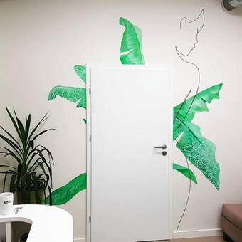 Galimas sienu dekoravimas ofisuose, biuruose, kitose istaigose.