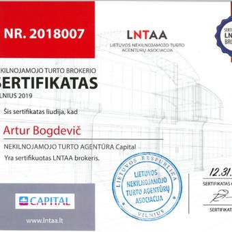 LNTAA sertifikuotas Nekilnojamojo turto brokeris / Artur Bogdevič / Darbų pavyzdys ID 579437
