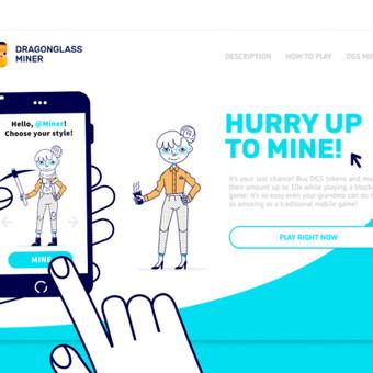 Dragonglass Miner website lending concept