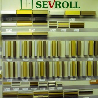 """<p>Slenkamų durų sistemos profiliai (apvadai) """"Sewroll""""</p>"""