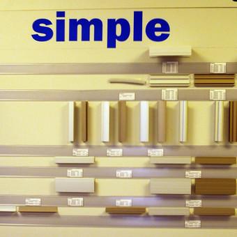 """<p>Slenkamų durų sistemos profiliai (apvadai) """"Simple""""</p>"""