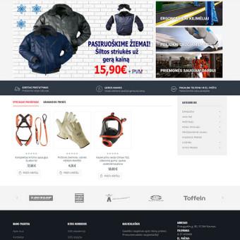 Įmonės, prekiaujančios darbuotojų apsaugos priemonėmis, internetinė parduotuvė - sdgkodas.lt. Turinio valdymo sistema - Magento2.