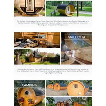 Šveicarų įmonės, prekiaujančios sodo mediniais statiniais, kubilais, internetinė parduotuvė - www.tuenni.ch. Turinio valdymo sistema - Magento2.