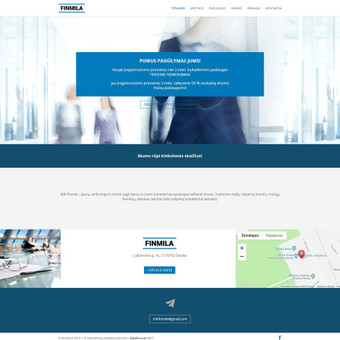 Buhalterinės įmonės inetrentinė svetainė - www.finmila.lt